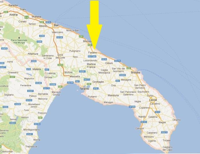 map fasano