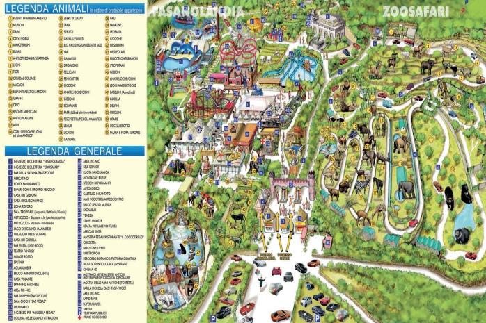 zoo safari map