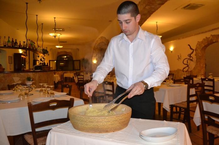 pasta flambe preparation