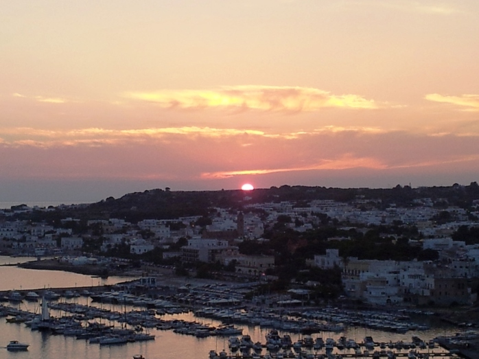 sunset in Leuca