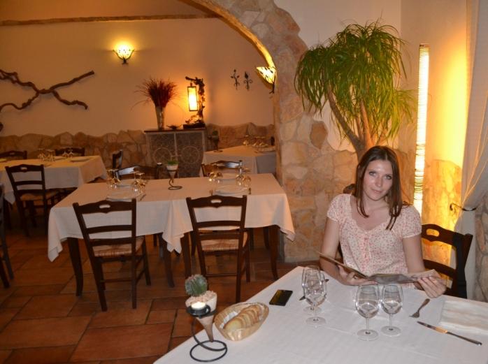 with menu