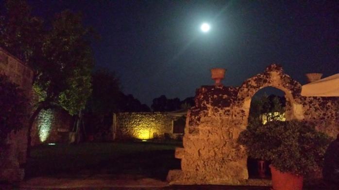 full moon accompanied the concert