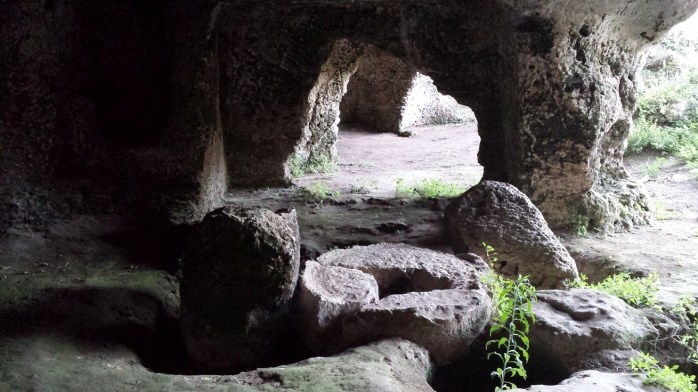 inside of the caves